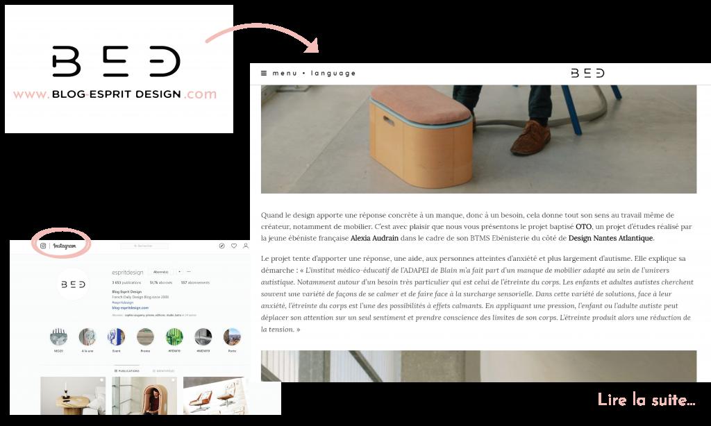 Blog esprit design Article sur le fauteuil à étreindre OTO d'Alexia Audrain pour les personnes autistes.